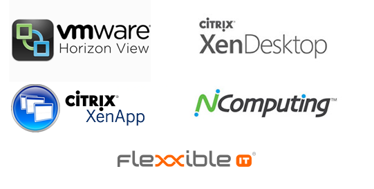 logo vmware horizon view, logo citrix xen desktop, logo citrix xenapp, logo ncomputing
