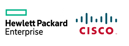 logo hpe, logo cisco